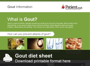 Download the gout diet sheet