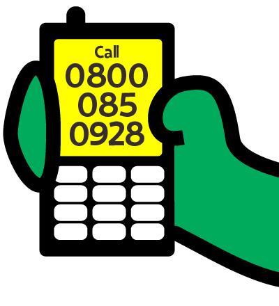 Call 0800 085 0928
